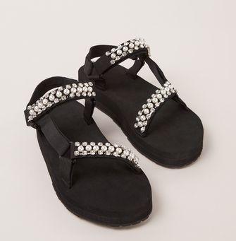 maje sandalen strass