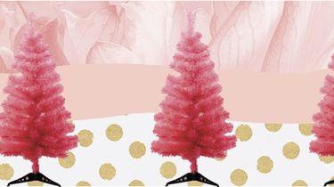 Roze kerst boom