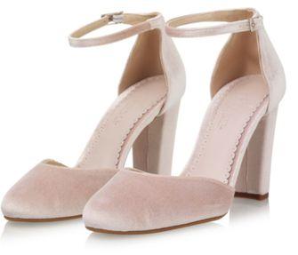 bruidsschoenen fluweel roze