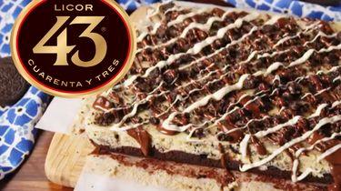 oreo-cheesecake-brownie met Licor 43 en Nutella