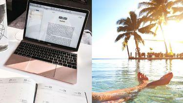 studeren met warm weer