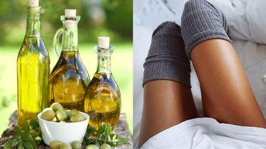 olijfolie gladde benen