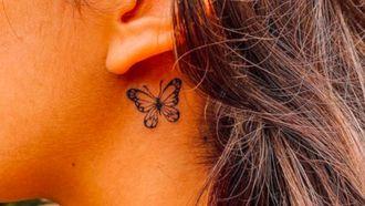 tattoo achter het oor