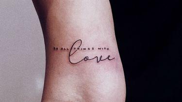 love tattoo die je in een tattoo shop in amsterdam kunt zetten