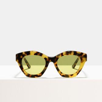 zonnebrillentrend gele glazen