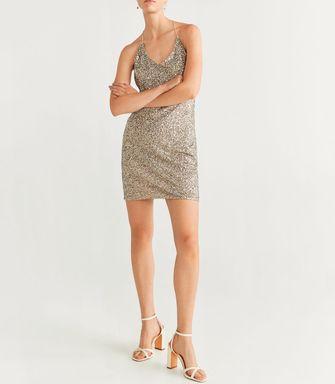 mango glitter jurk