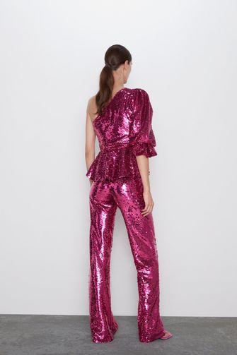 glitter broek zara