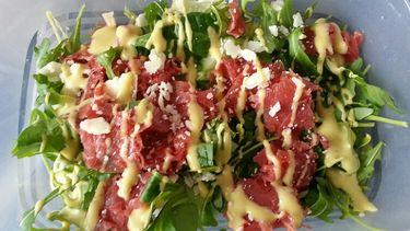 carpaccio salade met truffel gezonde lunch