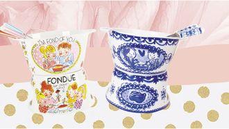 fondue set blond