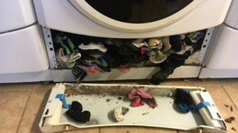wasmachine eet sokken