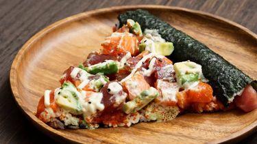recept sushi pizza